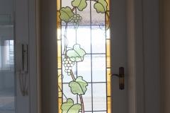Zimmertür mit Bleiverglasung